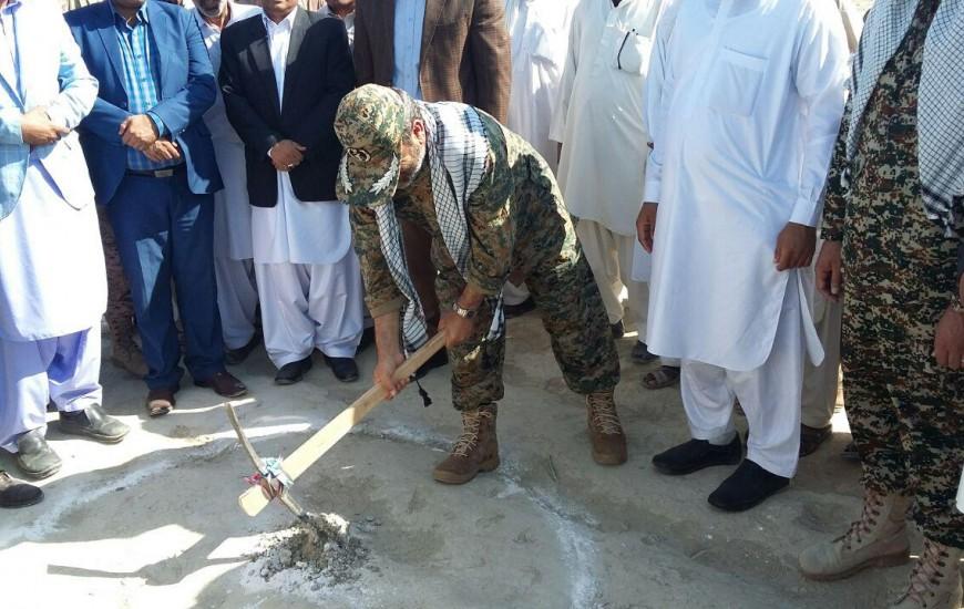 مدرسه 6 کلاسه در روستای بمباسری چابهار کلنگ زنی شد